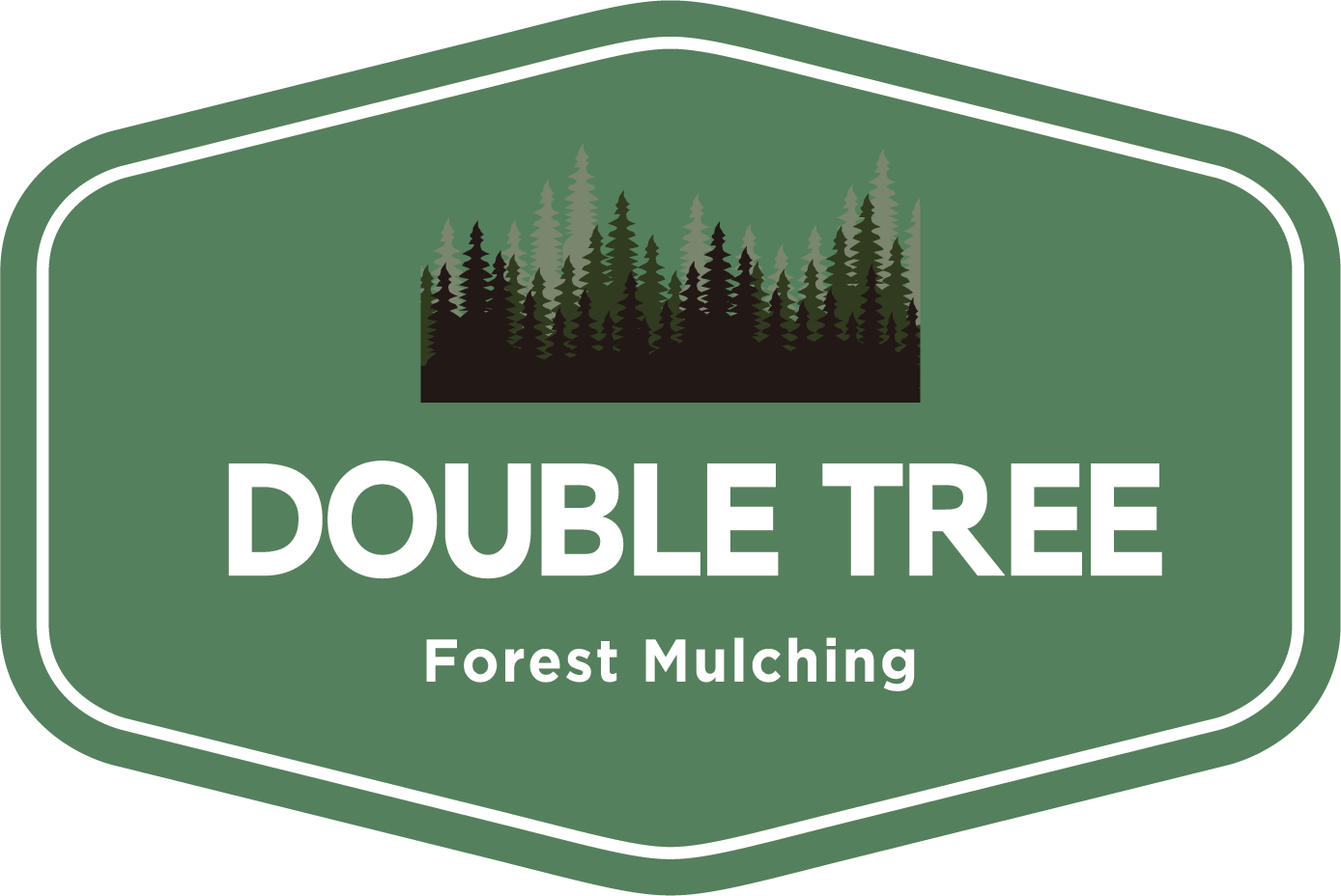 Double Tree Forest Mulching Logo